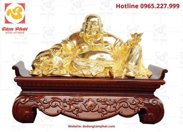 Tượng Phật di lạc bằng đồng mạ vàng
