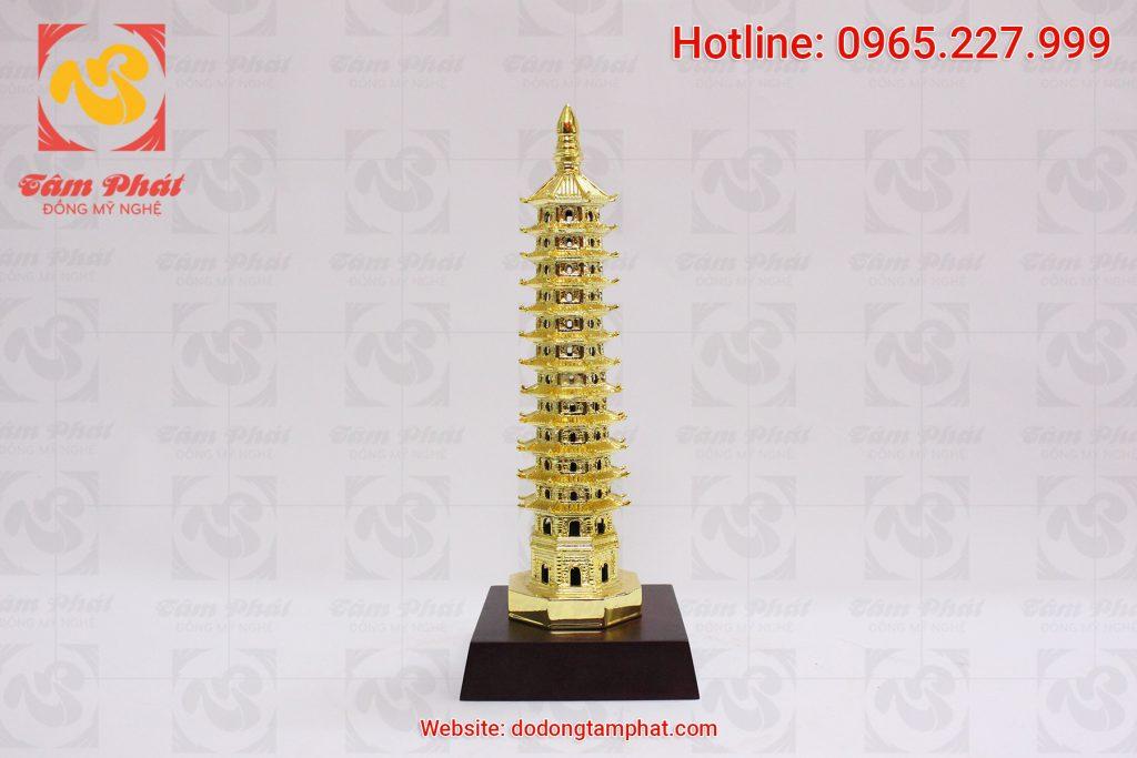 Dát vàng 9999 tháp phật bằng đồng
