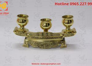 Bộ ngai chén bằng đồng màu vàng (1)