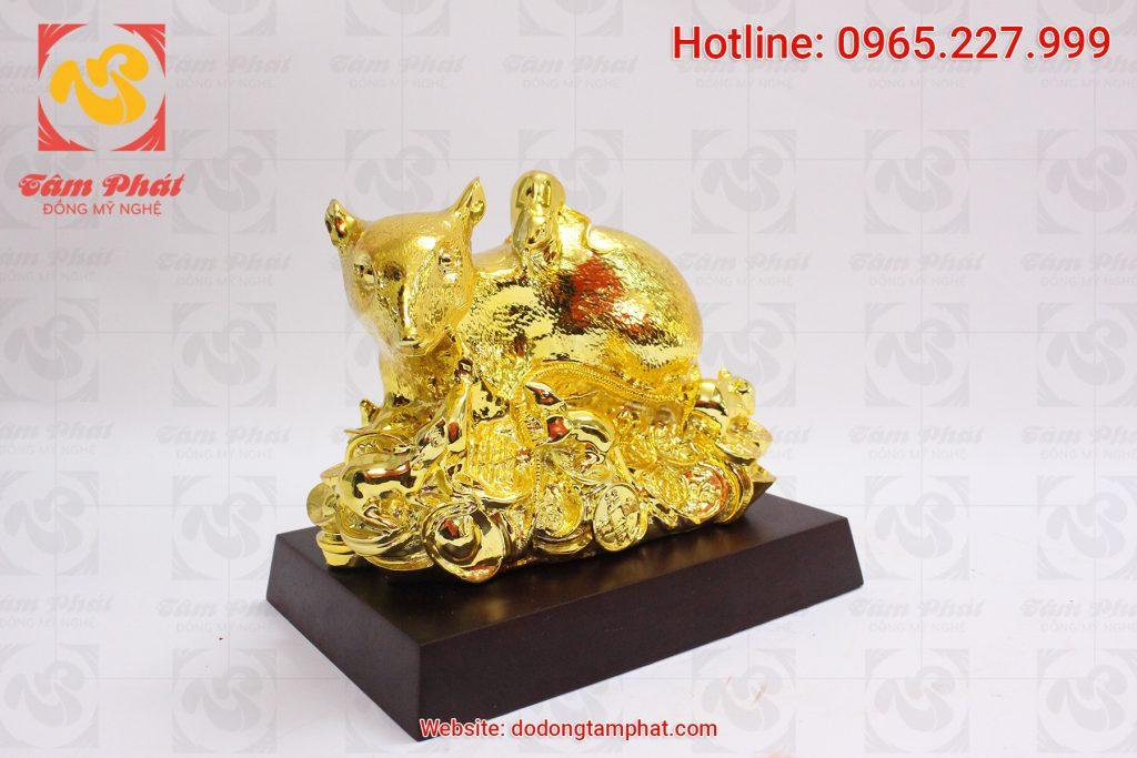 Chuột đồng mạ vàng 24k