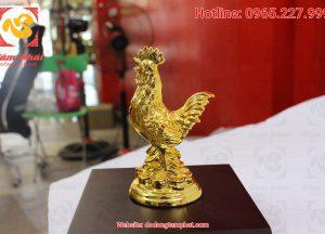 Gà đồng mạ vàng cao 15 cm (9)