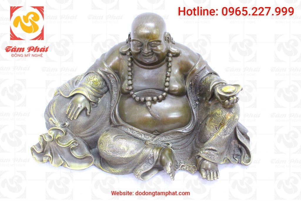 Tượng Phật Di Lặc khảm tam khí cao 40 cm