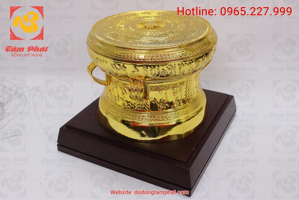 mặt nghiêng trống đồng mạ vàng đường kính 20 cm