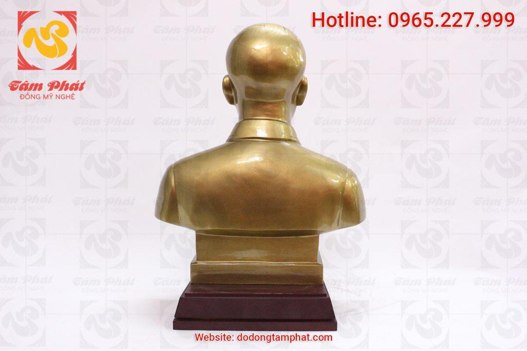 Tượng đồng Bác Hồ bán thân cao 50 cm