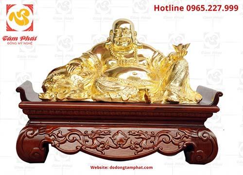 Tượng Phật Di Lặc mạ vàng 24K