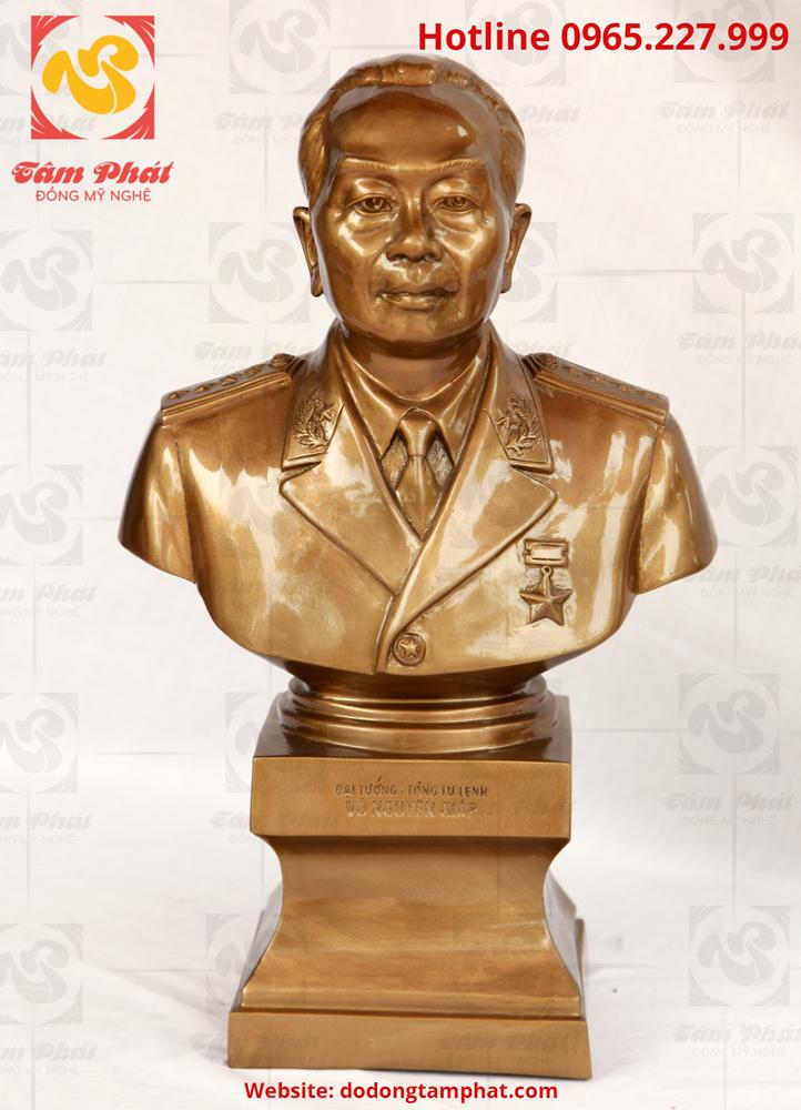 Tượng đồng đại tướng Võ Nguyên Giáp bán thân cao 42 cm