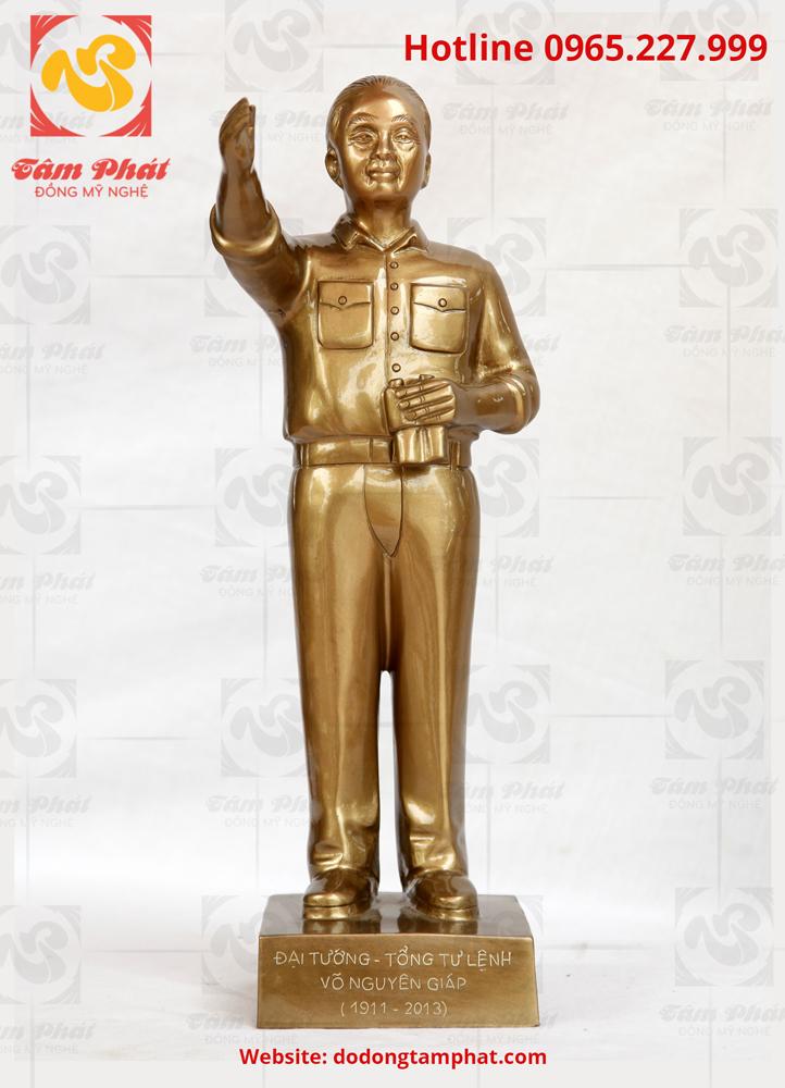 Tượng đồng đại tướng Võ Nguyên Giáp chỉ đạo chiến dịch cao 50 cm