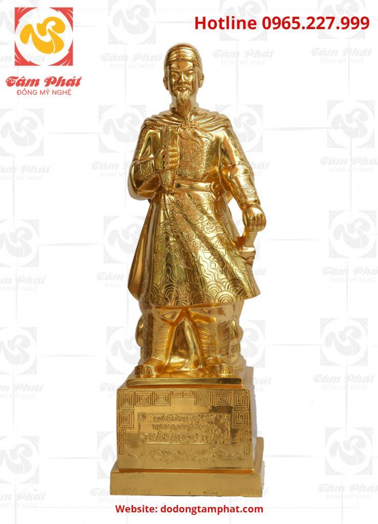 Tượng đồng Hưng đạo Đại vương Trần Quốc mạ vàng 9999