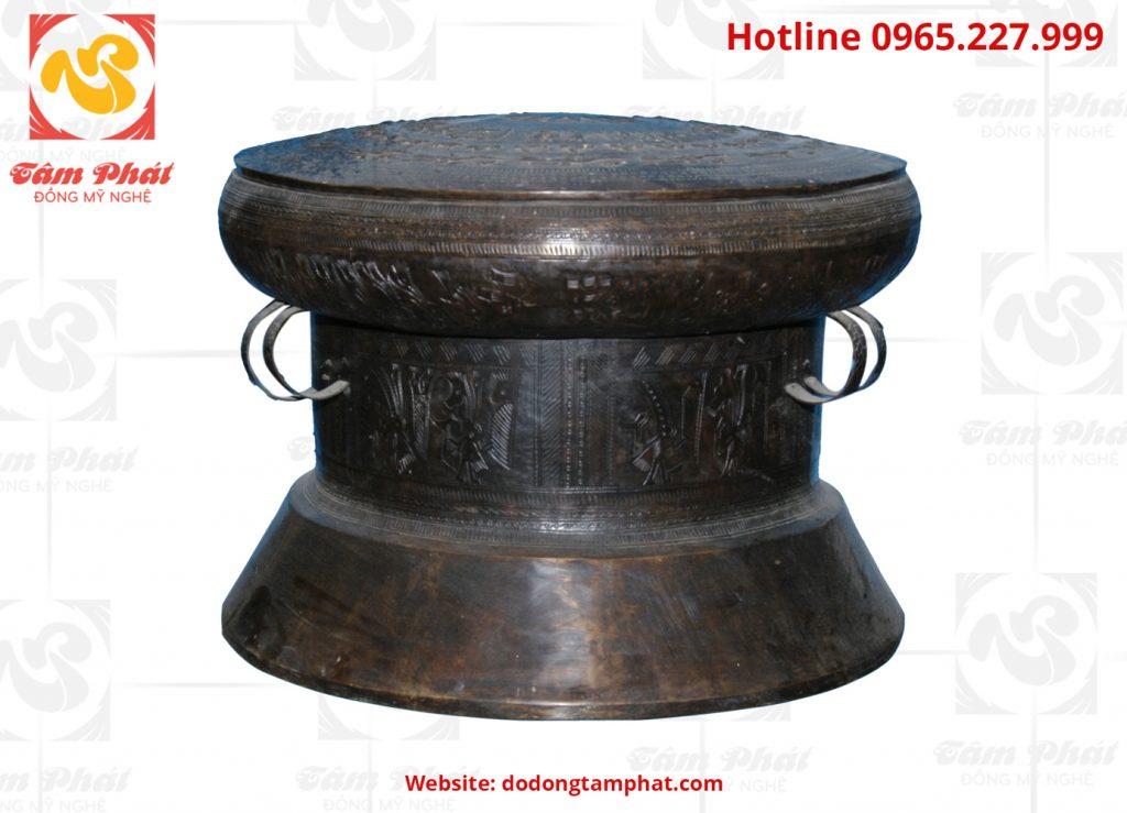 Trống đồng màu đen đường kính 20 cm