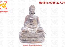 Tượng Phật  THÍCH CA MÂU NI bằng đồng  cao 40 cm