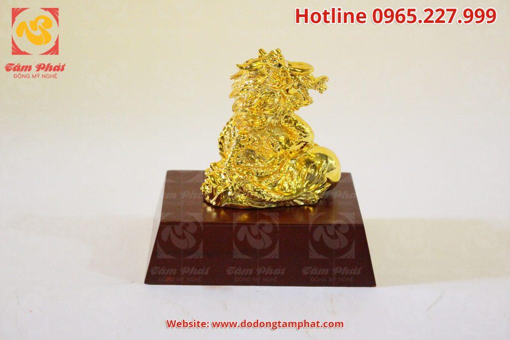 Tượng Rồng phong thủy mạ vàng 24k