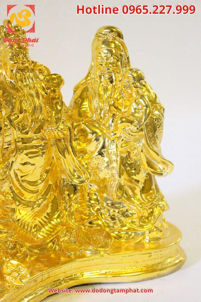 tượng Phúc Lộc Thọ mạ vàng 24k - Ba ông tam đa