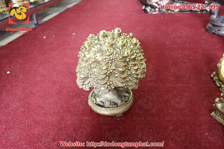 cây tiền tài lộc bằng đồng