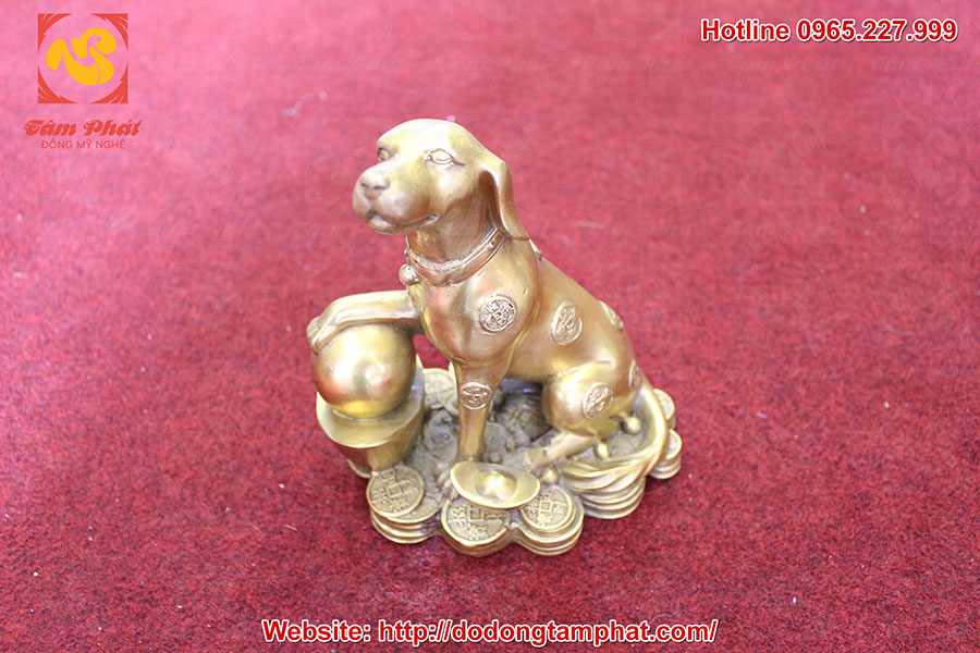 Tượng chó phong thủy bằng đồng