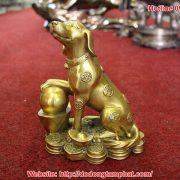 tượng chó phông thủy bằng đồng
