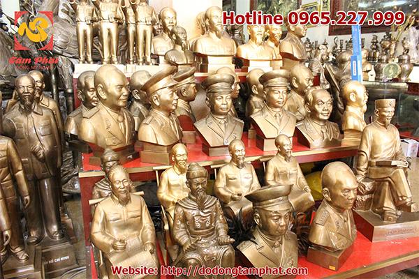 Các cơ quan, doanh nghiệp có thể chọn tượng đồng Đại tướng Võ Nguyên Giáp theo kích thước khác nhau tại Showroom Đồ đồng Tâm Phát.