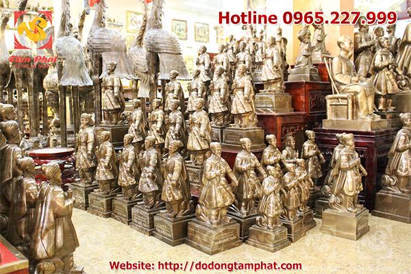 Cơ sở đúc đồng Tâm Phát chuyên đúc tượng đồng các danh nhân, anh hùng dân tộc và tượng truyền thần.