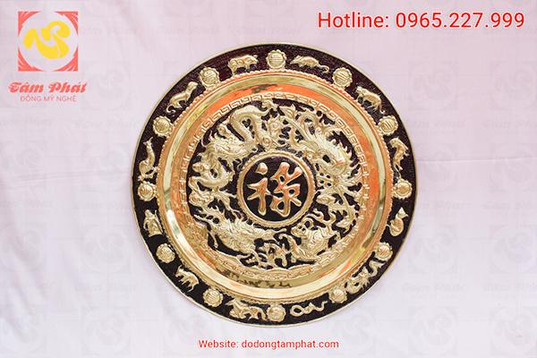 Tranh đồng mạ vàng của Đồng Tâm Phát luôn được chế tác tinh xảo và công phu.