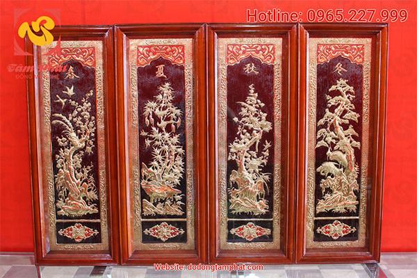 Tranh đồng mạ vàng của Đồng Tâm Phát được khách hàng gần xa tin tưởng.