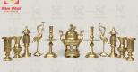 Mua đồ thờ bằng đồng hay bằng sứ tốt hơn?