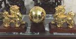 Đôi tỳ hưu mạ vàng trang trí nội thất gia đình, cơ quan