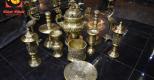 Bộ đồ thờ đồng vàng mộc mạ đón năm mới an khang, thịnh vượng