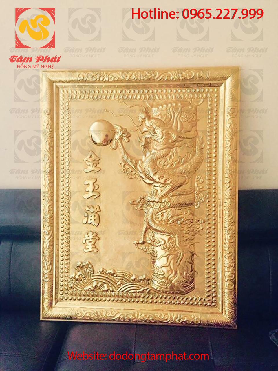 Tranh đồng mạ vàng cao cấp, sang trọng Tâm Phát