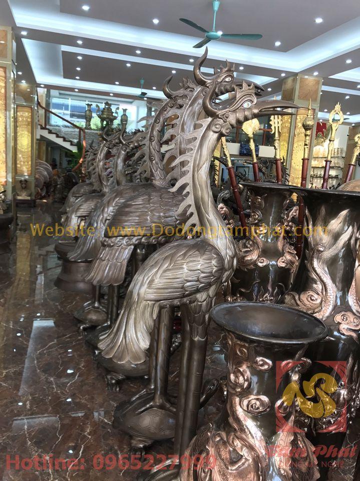 Hạc đồng kích thước lớn cao cấp tại Tâm Phát