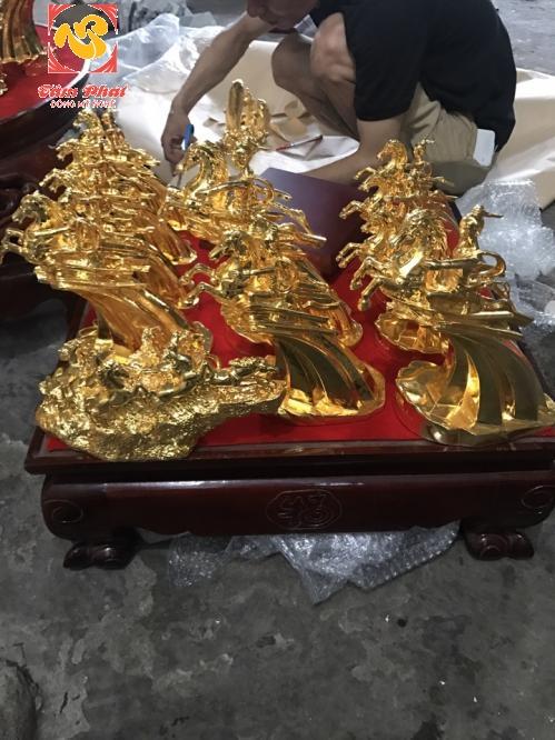 Tượng đồng Thánh Gióng mạ vàng 24K các kích thước