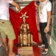Tượng An Sinh Vương Trần Quốc Liễu cao 1m đồng đỏ đã hoàn thành