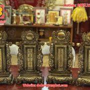 4 bài vị thờ bằng đồng cao cấp giả cổ tinh xảo