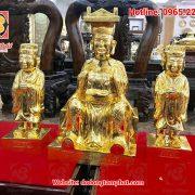Tượng vua Cha Ngọc Hoàng và Nam Tào, Bắc Đẩu mạ vàng 24K cực đẹp