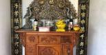 Lắp đặt xong cuốn thư câu đối đồng vàng tại gia đình khách hàng ở Bắc Giang