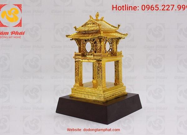 khuê văn các bằng đồng mạ vàng 9999