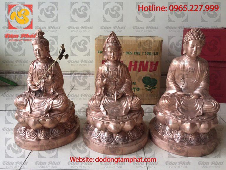 giá tượng Phật bằng đồng