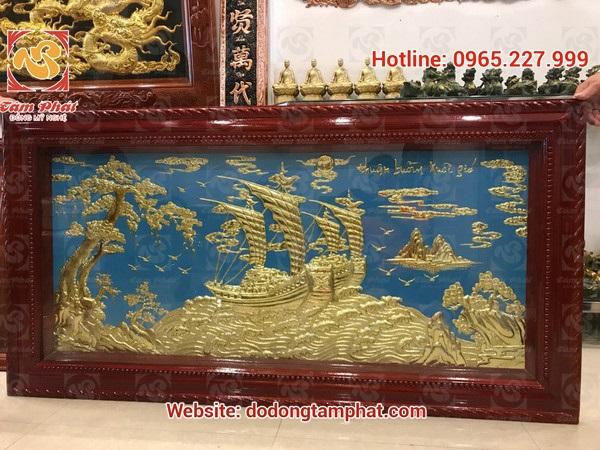 Tranh đồng Thuận Buồm Xuôi Gió 1m55*81cm cao cấp