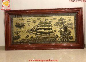 Tranh đồng phong thủy Thuận Buồm Xuôi Gió 2m30 x 1m2