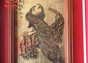 Tranh đồng Phượng Hoàng phú quý đồ tinh xảo, phong cách cổ điển