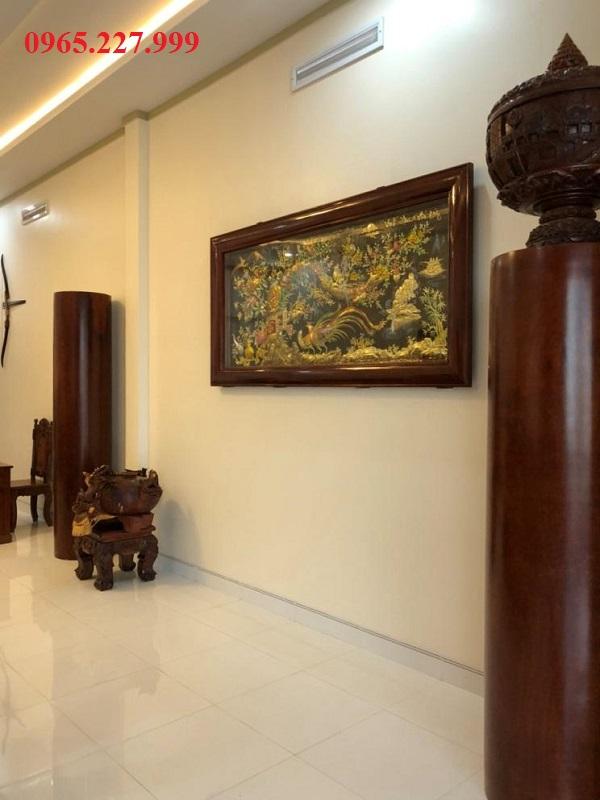 Tranh Vinh Hoa Phú Quý bằng đồng khảm ngũ sắc, khổ 1m5 x 0,8m