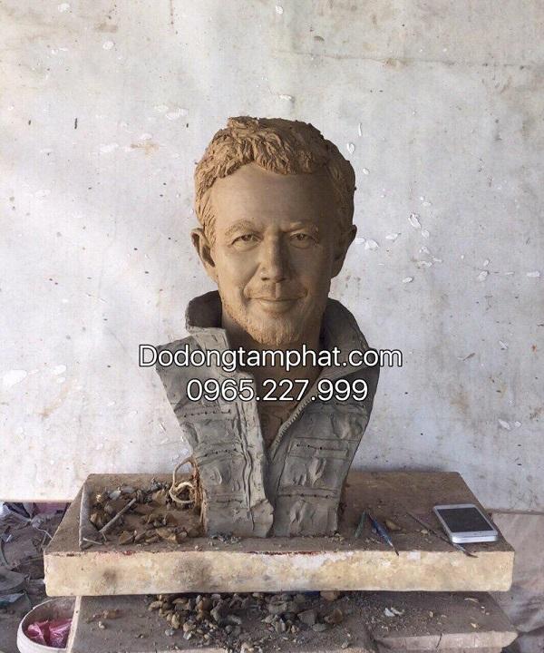 Tượng chân dung Thái tử Đan Mạch Frederik bằng đồng