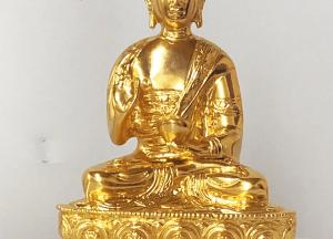 Tượng Phật Thích Ca Mâu Ni kiểu Thái Lan bằng đồng thếp vàng