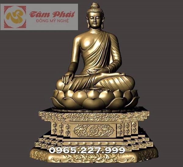 Đúc tượng Phật Thích Ca Mâu Ni bằng đồng cao 3m6 nặng 5 tấn cho chùa.!.