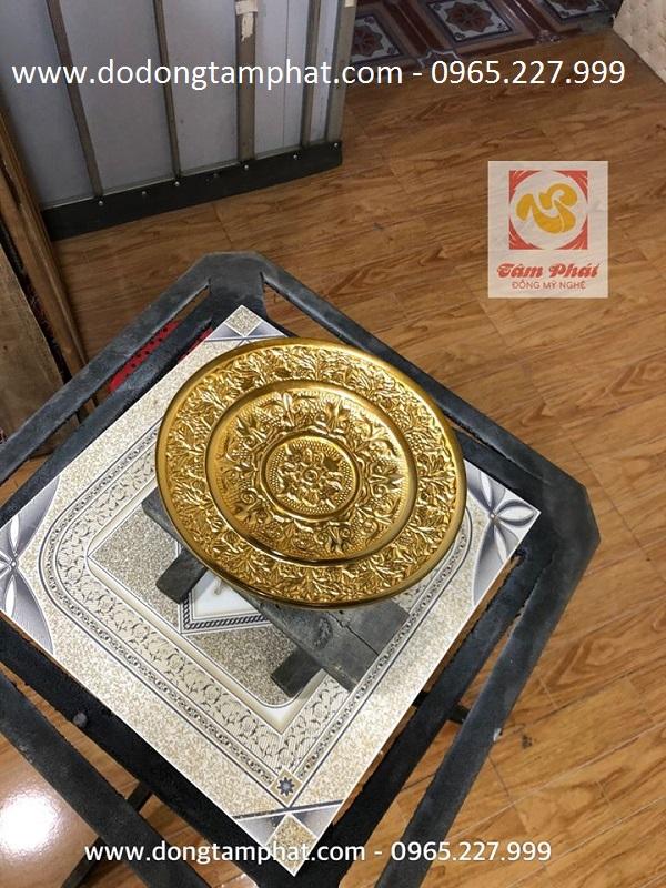 Mâm bồng cao cấp bằng đồng dát vàng