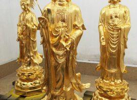 Bộ tam thế Phật mạ vàng 24K