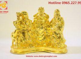 Tượng Phúc Lộc Thọ mạ vàng 24k – Ba ông tam đa