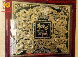 Tranh đồng Cửu Long mạ vàng