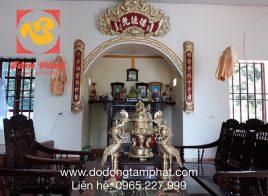 Bàn giao bộ đồ thờ đồng vàng và hoành phi câu đối tại nhà khách