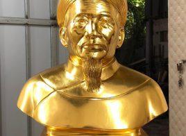 Các mẫu tượng đồng truyền thần thếp vàng 9999
