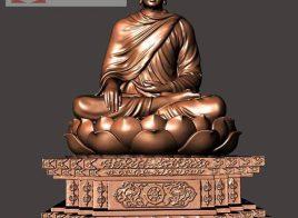 Đúc tượng Phật Thích Ca Mâu Ni bằng đồng cao 3m6 nặng 5 tấn cho chùa.!