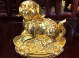 Linh vật chó mạ vàng cao cấp 24K